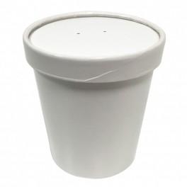 50 pots carton à soupe 480 ml + couvercles