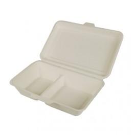 25 boîtes repas bio 1000 ml 2 compartiments
