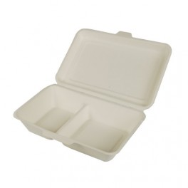 500 boîtes repas bio 1000 ml 2 compartiments