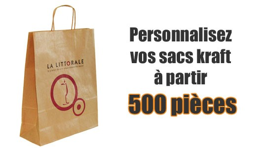 sac kraft personnalisé à partir de 400