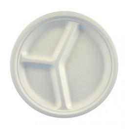 50 assiettes carton 26 cm 3 compartiments bio
