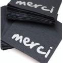 """50 Serviettes celiouat """"merci"""" 20x20 cm"""