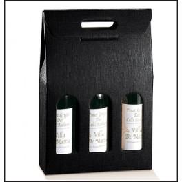 Carton 3 bouteilles noir
